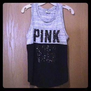 Victoria's Secret PINK marled sequin tank